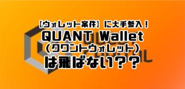 【ウォレット案件】に大手参入!QUANT Wallet(クワントウォレット)は飛ばない??